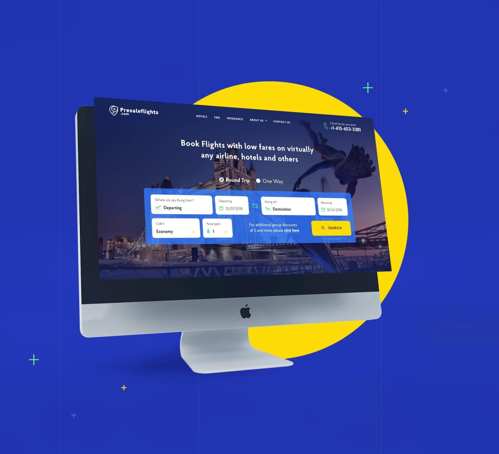 дизайн сайта туристическая компания