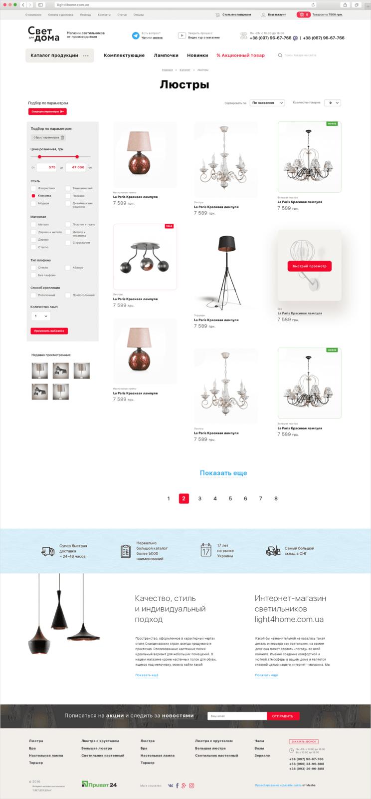 интернет-магазин светильников Свет для дома